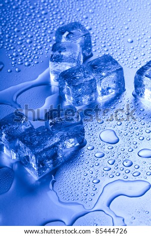 Cold, ice, cool background - stock photo