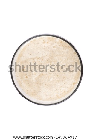 Cold iced coffee and milk drink in glass - stock photo