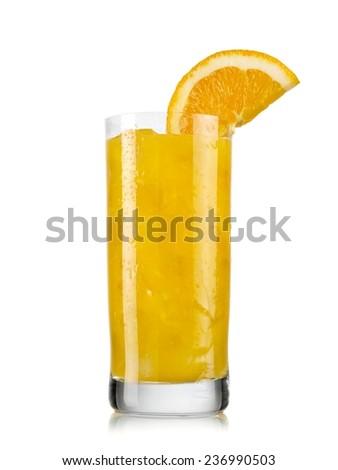 Cold orange juice - stock photo