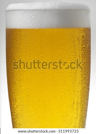 COLD PINT OF BEER - stock photo