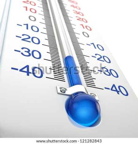 Cold thermometer - stock photo