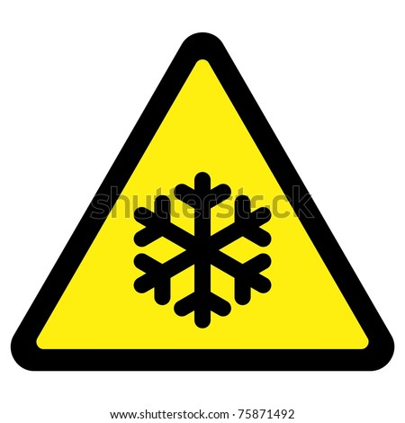 Cold Warning Sign - stock photo