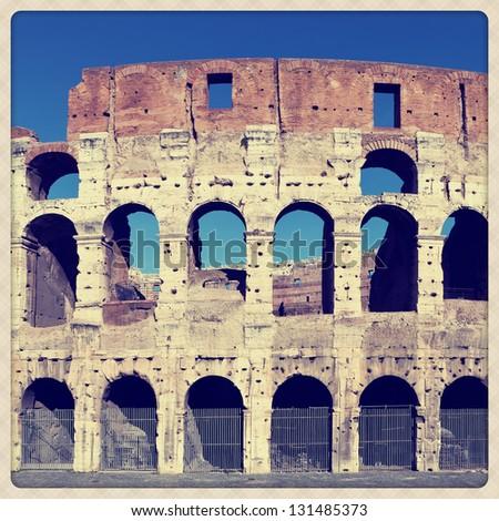 Coliseum Amphitheater - stock photo