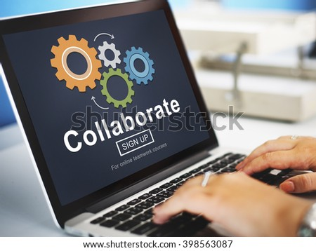 Collaborate Join Partnership Support Togetherness Concept - stock photo