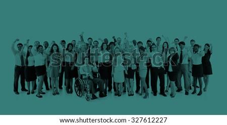 Collaboration Colleagues Corporate Business Success Concept - stock photo