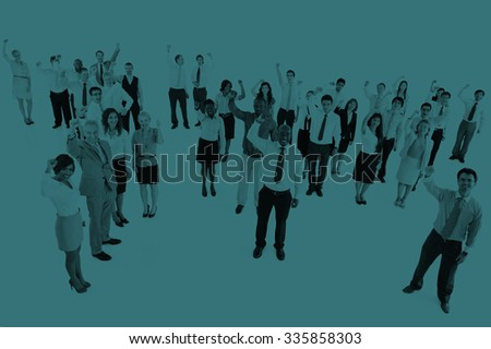 Collaboration Colleagues Corporate Business Success Concept - stock photo