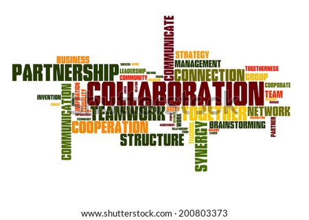 Collaboration concept word cloud background  - stock photo