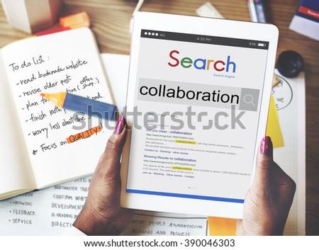 Collaboration Partnership Team Teamwork Unity Concept - stock photo