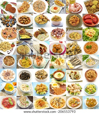 Collage of cooked - stock photo