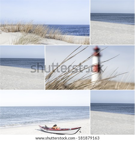 Collage of landscape pictures from the island of Sylt, Germany - stock photo