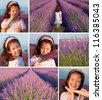 Collage of lavender - stock photo