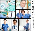 Collage of medical images - stock photo