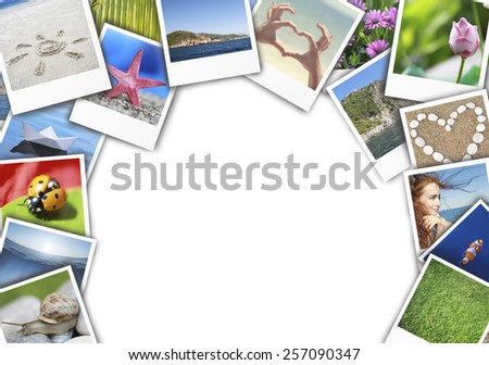 collage of nature photos - stock photo