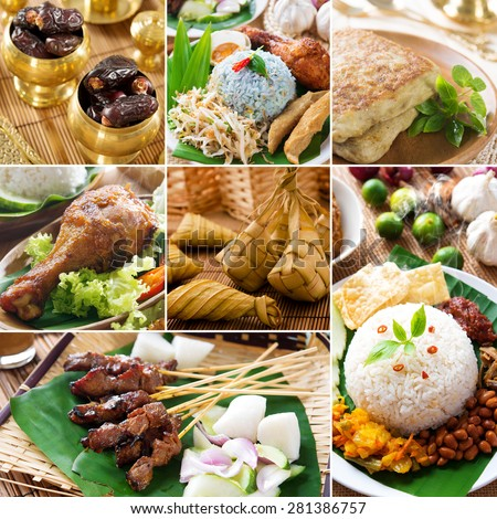 Collage photo delicious ramadan food, all photos belongs to me.  - stock photo