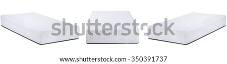Collage photo of white mattress with a pattern isolated on white - stock photo
