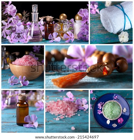 Collage, Spa background.  - stock photo