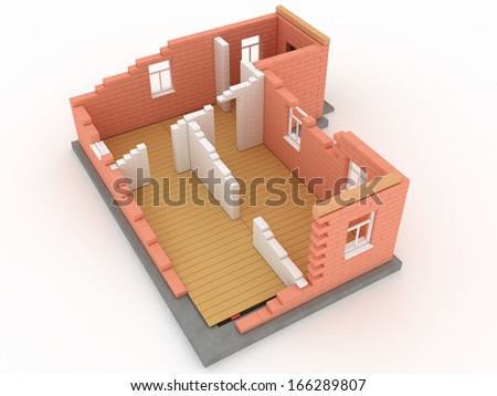 Collapsed building 2 - stock photo