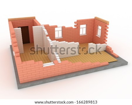 Collapsed building 1 - stock photo