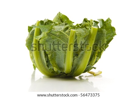 Collard greens. photo of a fresh, - stock photo