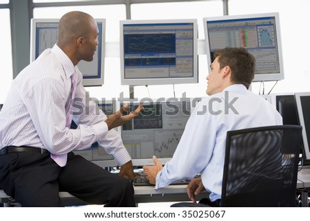 Colleagues In Discussion - stock photo