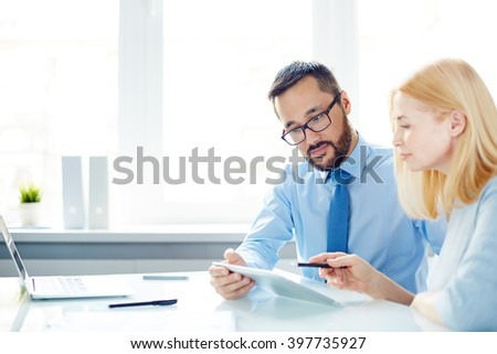 Colleagues interacting - stock photo