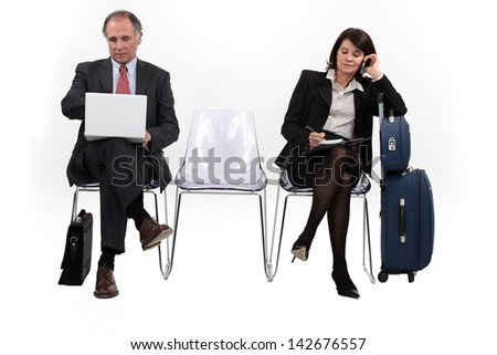 Colleagues on a professional trip - stock photo