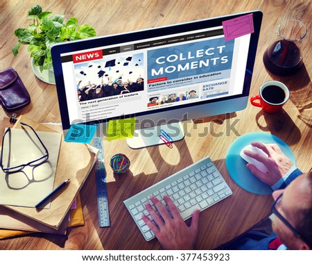 Collect Moments Experience Enjoy Concept - stock photo