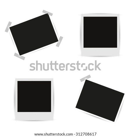 Collection blank photo frames - stock photo