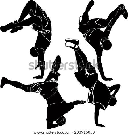 collection breakdance break dance - stock photo
