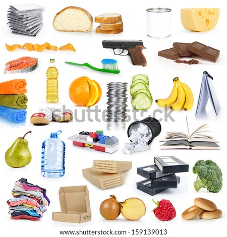 collection objects - stock photo
