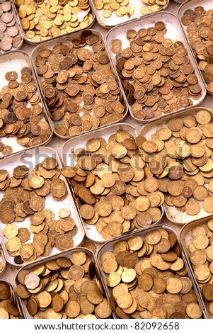 Collection of Antique  Coins - stock photo