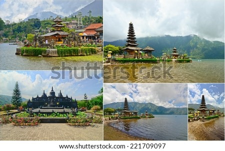 collection of Bali, Indonesia - stock photo