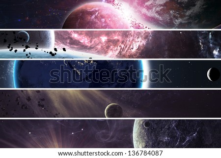 Collection of banners for website - stock photo