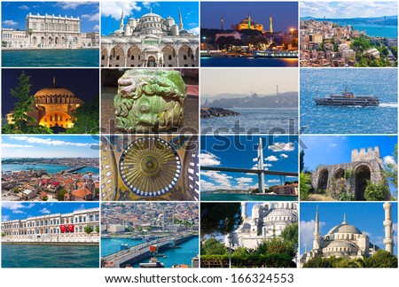 Collection of beautiful photos in Istanbul, Turkey - stock photo