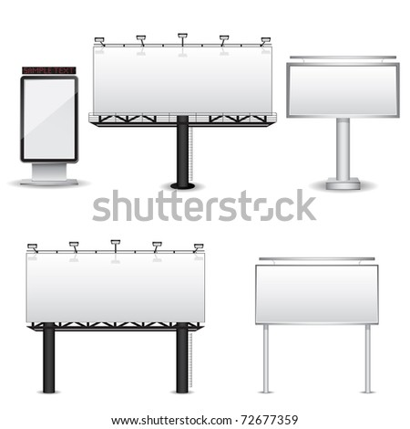 Collection of Billboards - stock photo