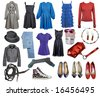 collection of clothes and accessories - stock photo