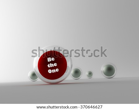 Collection of colorful glossy spheres - stock photo