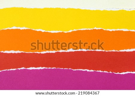 collection of colorful torn paper - stock photo