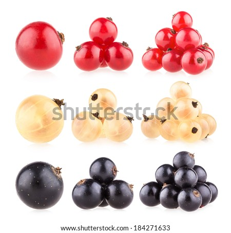 collection of 9 currant images - stock photo