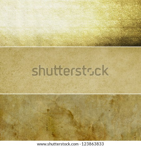 Collection of dark brown abstract vintage backgrounds. Various textures. - stock photo