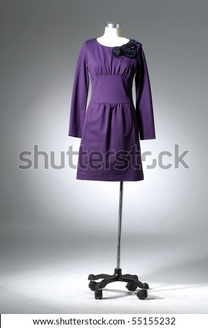 collection of dress on light background - stock photo