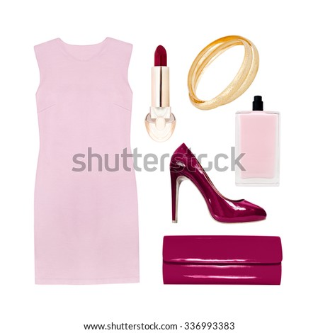 collection of elegant clothes - stock photo