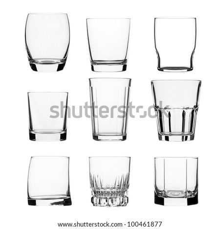 collection of glass jars - stock photo