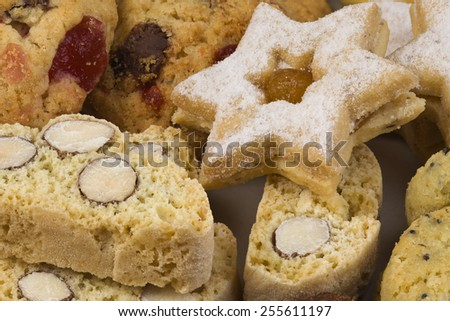 Collection of Homemade Dry Cookies - stock photo