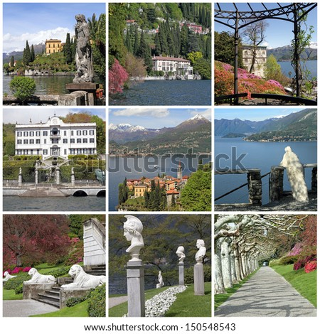 collection of images of lake Como , Lombardia, Italy, Europe - stock photo