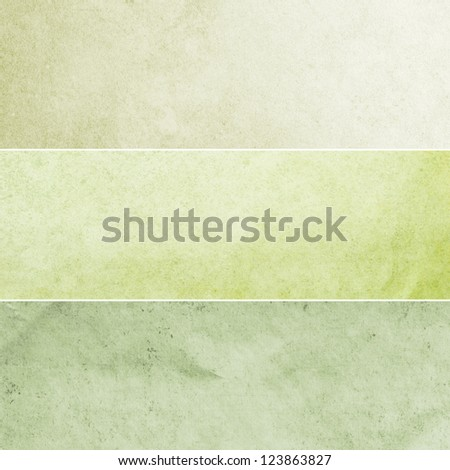 Collection of light green and yellow abstract vintage backgrounds. Various textures. - stock photo