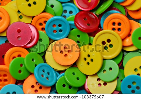 Collection of many colorful buttons - stock photo