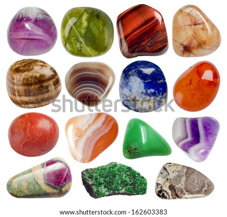 collection of minerals - stock photo