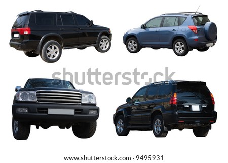 Collection of offroad cars - stock photo