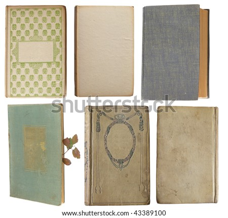 collection of old books - stock photo